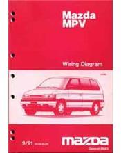 Mazda MPV LV 09/1991 Factory Wiring Diagram Manual Supplement