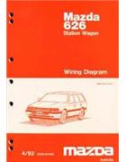 Mazda 626 GV Wiring Diagrams 04/1992 Factory Manual Supplement