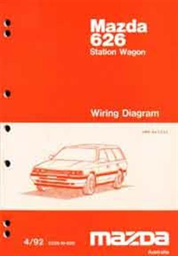Mazda 626 GV Wiring Diagrams 04/1992 Factory Manual Supplement - Front Cover