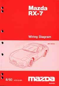 Mazda RX-7 FD Wiring Diagrams 08/1993 Factory Workshop Manual Supplement