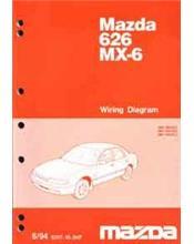 Mazda 626 Mx6 Gd Wiring Diagrams 09 1991 Factory Manual Supplement Mazda Australia