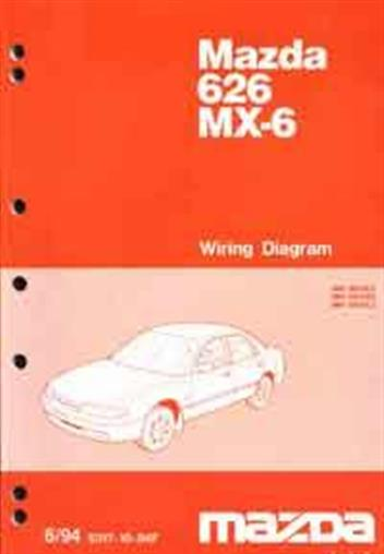 mazda 626 & mx6 ge wiring diagrams 06/1994 factory manual supplement -  front cover