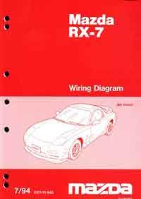 Mazda RX-7 FD 07/1994 Factory Wiring Diagram Manual Supplement - Front Cover