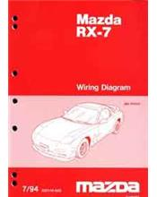 Mazda RX-7 FD 07/1994 Factory Wiring Diagram Manual Supplement