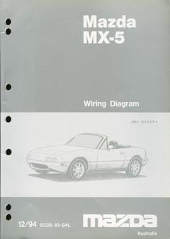 Mazda MX-5 NA 12/1994 Wiring Diagrams Factory Manual Supplement - Front Cover