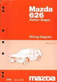 Mazda 626 GV Wiring Diagrams 02/1995 Factory Manual Supplement