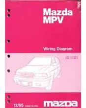 Mazda MPV LV 12/1995 Factory Wiring Diagram Manual Supplement