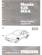 Mazda 626 & MX6 GE Wiring Diagrams 11/1995 on Factory Supplement - Front Cover