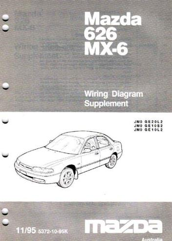 mazda 626 mx6 ge wiring diagrams 11 1995 on factory. Black Bedroom Furniture Sets. Home Design Ideas