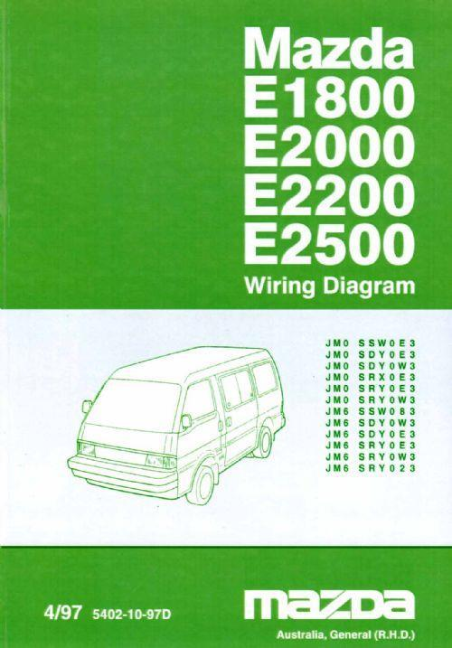 Mazda E Series 04/1997 Factory Wiring Diagram Manual Supplement - Front Cover