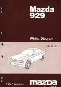 Mazda 929 HE Wiring Diagrams 10/1997 Factory Manual Supplement