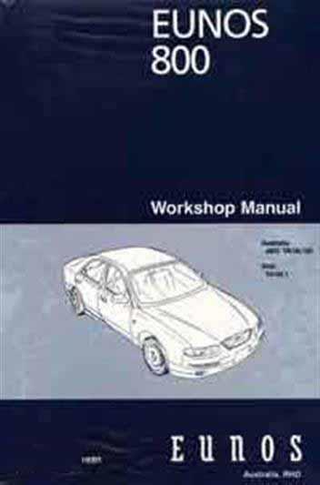 Mazda Eunos 800 TA Wiring Diagrams 08/1998 on Factory Manual Supplement - Front Cover