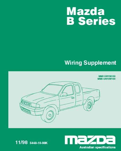 Mazda B Series Wiring 11/1998 Factory Diagram Manual Supplement - Front Cover