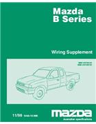 Mazda B Series Wiring Diagrams 11/1998 Factory Manual Supplement - Front Cover