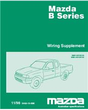 Mazda B Series Wiring Diagrams 11/1998 Factory Manual Supplement