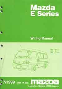Mazda E Series 07/1999 Wiring Diagram Factory Workshop Manual Supplement - Front Cover