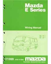 Mazda E Series 07/1999 Wiring Diagram Factory Workshop Manual Supplement