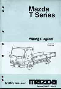 Mazda T Series 06/2000 Factory Wiring Diagram Manual Supplement - Front Cover