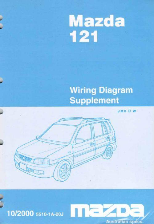 Mazda 121 (DW) 10/2000 Factory Wiring Diagram Manual Supplement - Front Cover