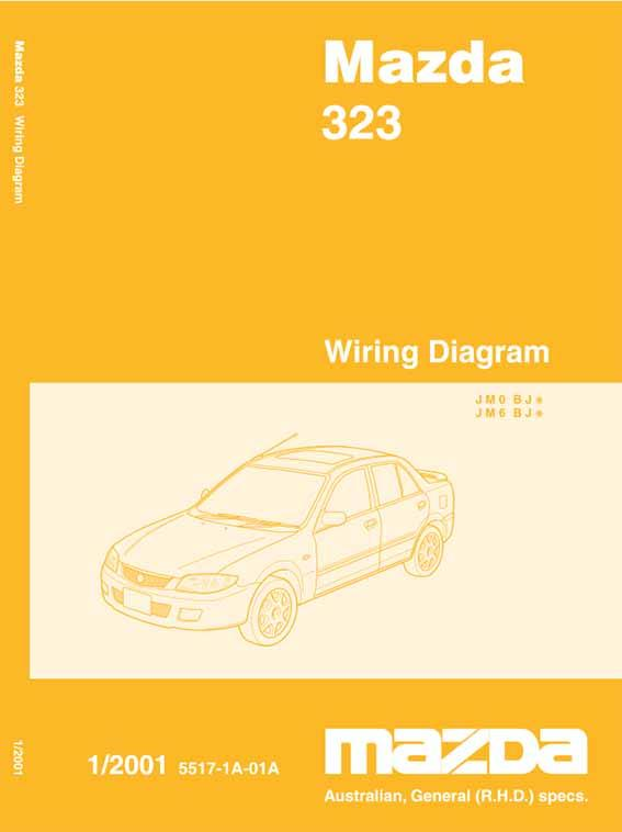 Mazda 323 BJ 01/2001 Factory Wiring Diagram Manual Supplement - Front Cover