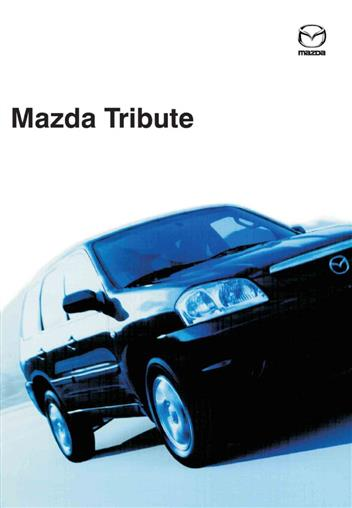 mazda tribute wiring diagrams 01/2001 on factory manual supplement - front  cover