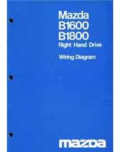 Mazda B Series B1600 / B1800 03/1977 Factory Wiring Diagram Manual Supplement