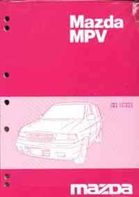 Mazda MPV LW 04/2002 Wiring Factory Wiring Diagram Manual Supplement - Front Cover