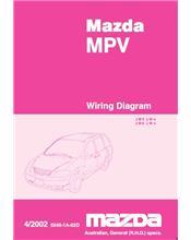Mazda MPV LW Wiring Diagrams 04/2002 Factory Manual Supplement
