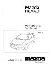 Mazda Premacy 03/2002 Wiring Diagram Factory Manual Supplement