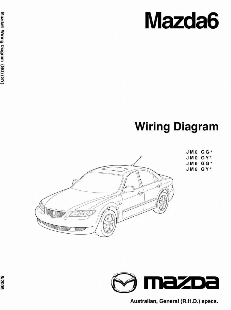 Mazda6 Wiring Diagrams 07/2002 On Factory Manual Supplement - Front Cover