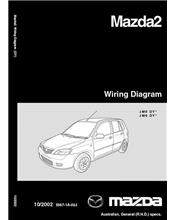 Mazda2 Wiring Diagrams 10/2002 Factory Workshop Manual Supplement