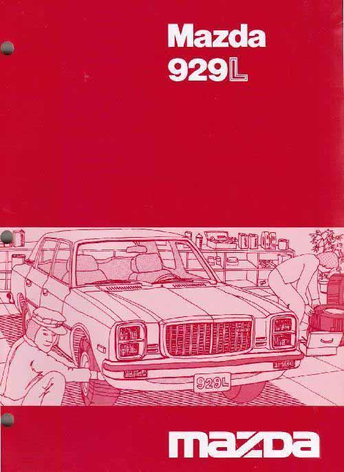 Mazda 929L 10/1979 Factory Wiring Diagram Manual Supplement - Front Cover