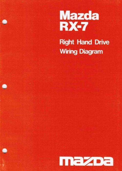 Mazda RX-7 Wiring Diagram 10/1980 Factory Manual Supplement
