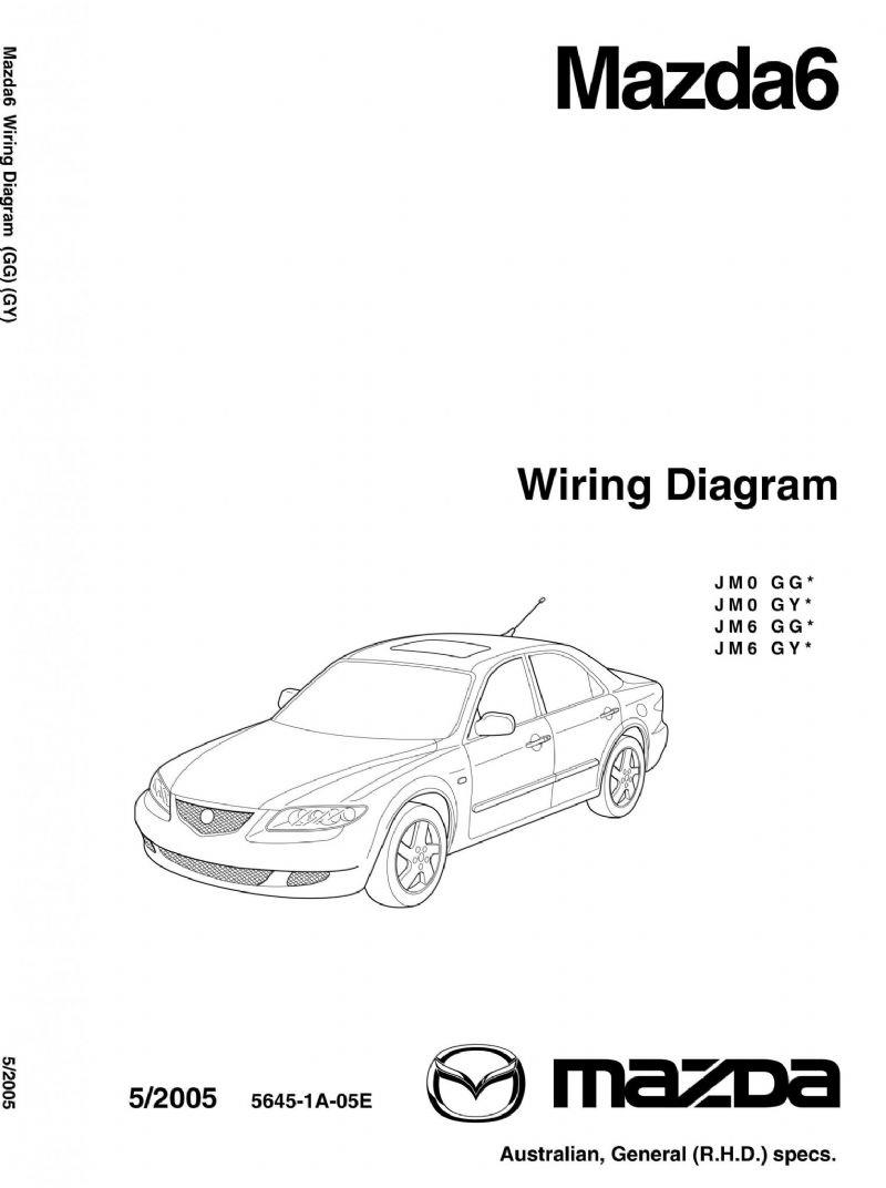 Mazda6 Wiring Diagrams 05/2005 Factory Workshop Manual Supplement - Front Cover