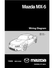 Mazda MX-5 NB Wiring Diagrams 07/2005 Factory Manual Supplement