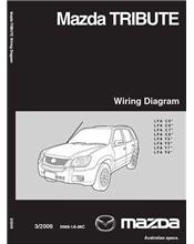 Mazda Tribute Wiring Diagrams 03/2006 Factory Manual Supplement