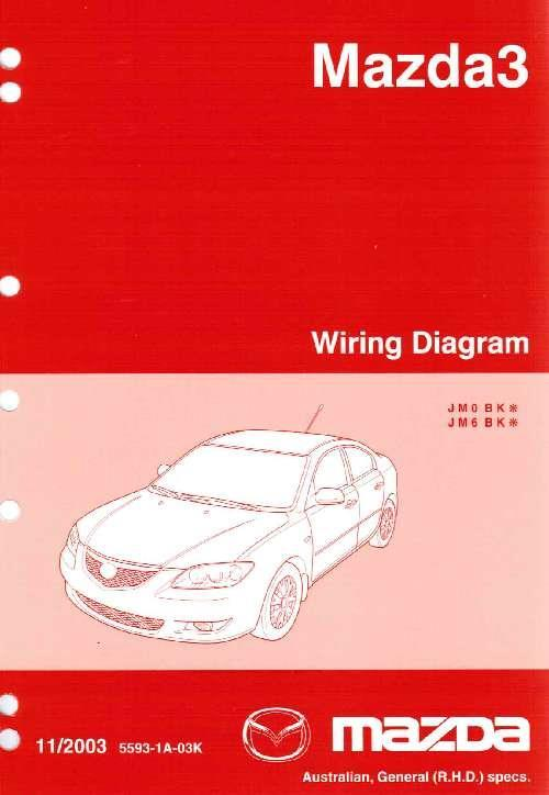 Mazda3 Wiring Diagrams 05/2006 Factory Workshop Manual Supplement - Front Cover