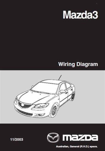 Mazda3 Wiring Diagrams 05 2006 Factory, Mazda 3 Wiring Diagram Pdf