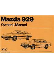 Mazda 929 11/1981 Owners Manual