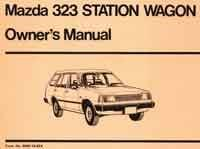 Mazda 323 01/1982 Station Wagon Owners Manual