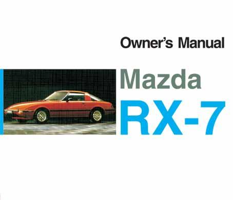 Mazda RX-7 05/1984 Owners Manual