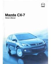 Mazda CX-7 07/2009 Owners Manual