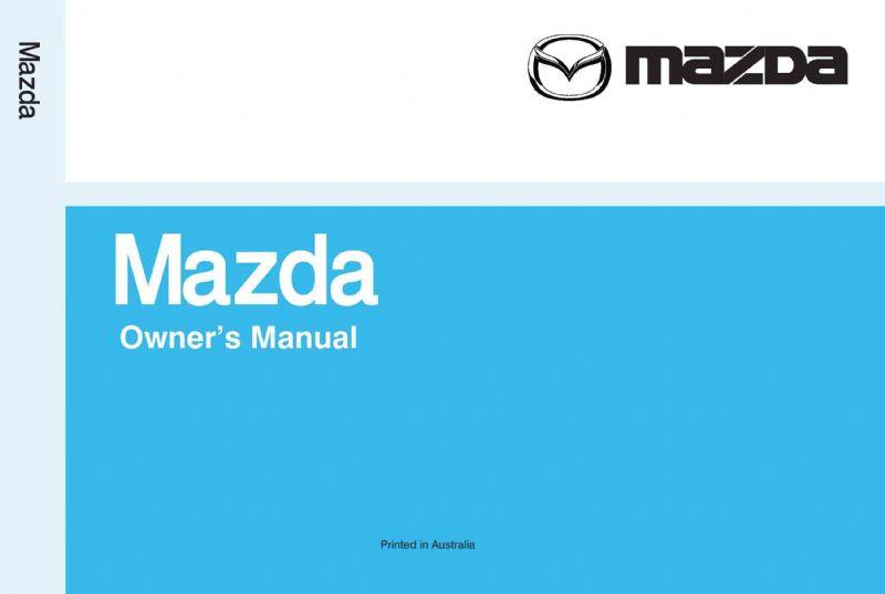 Mazda 121 DW 08/1996 Owners Manual - Front Cover