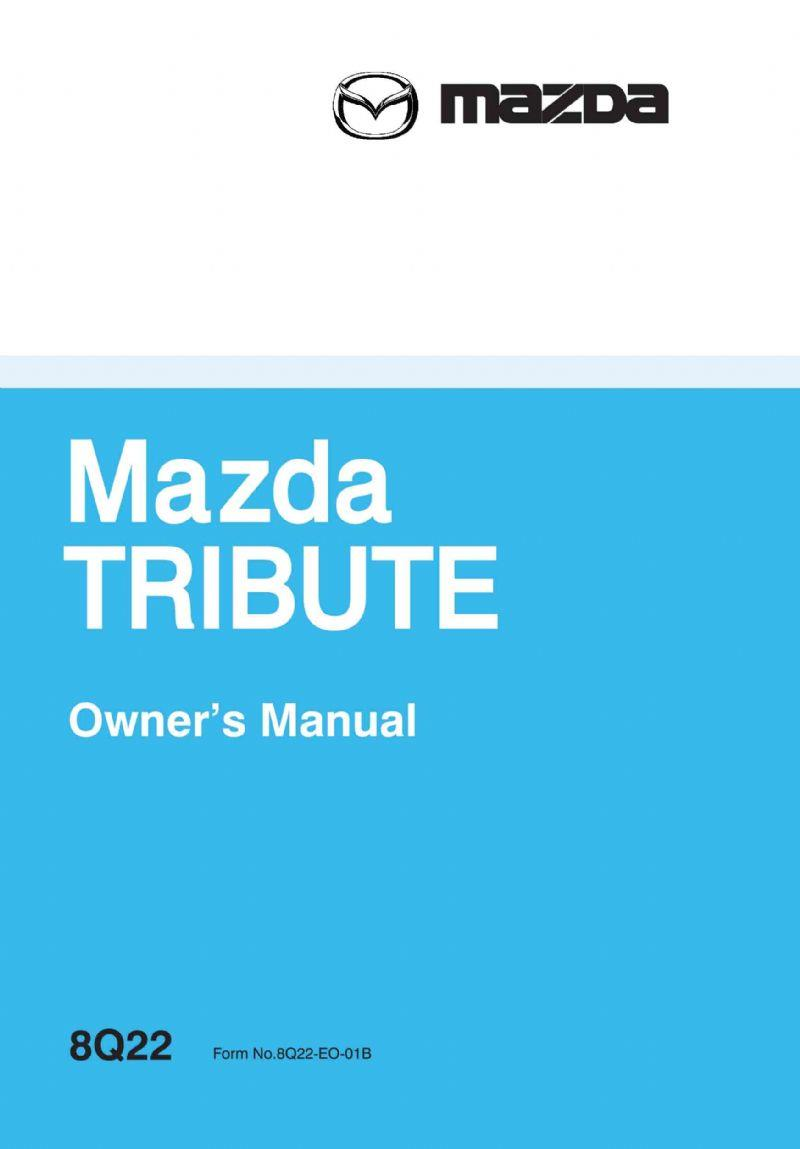 Mazda Tribute 02/2001 Owners Manual