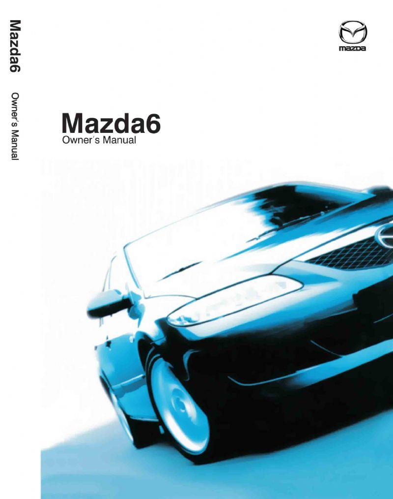 Mazda6 07/2002 Owners Manual - Front Cover