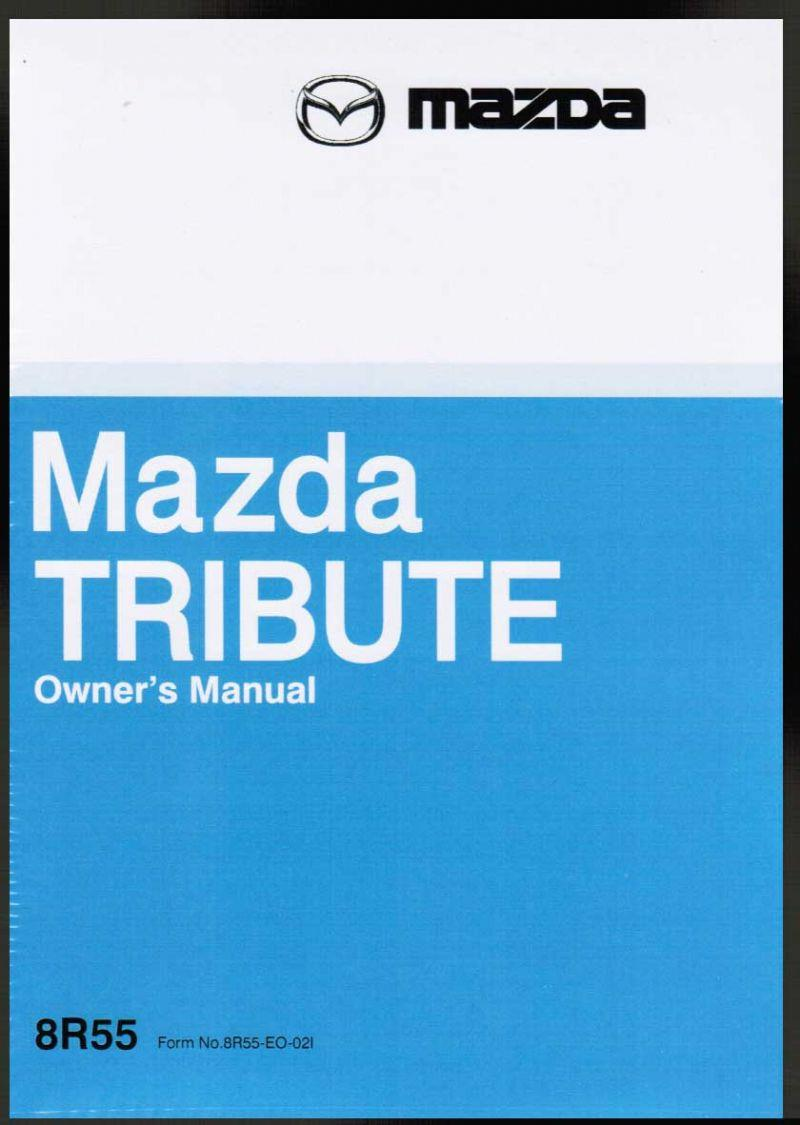 Mazda Tribute 09/2002 Owners Manual