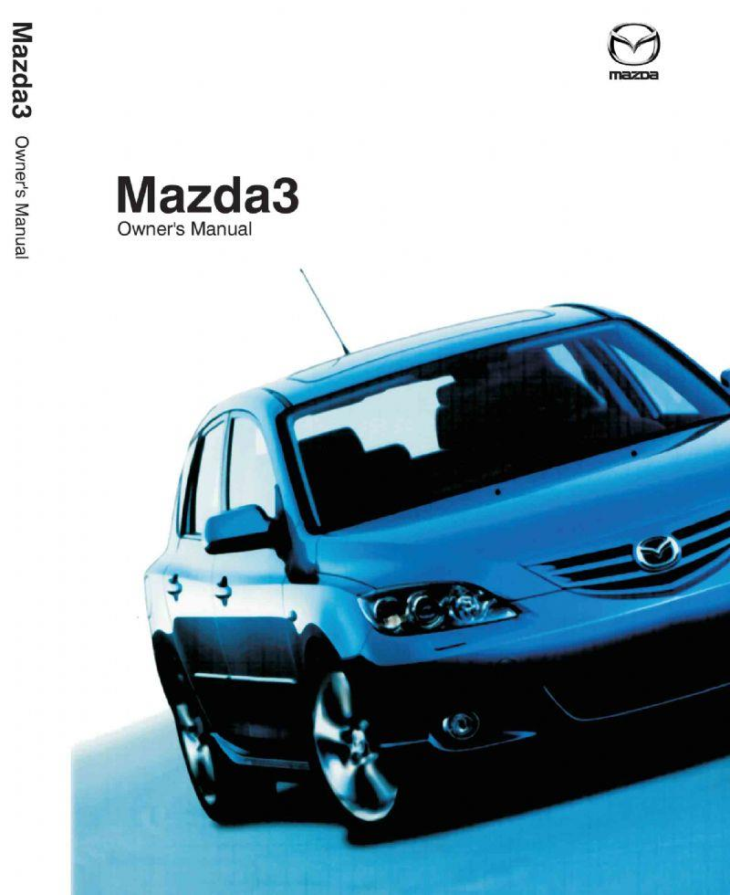Mazda3 11/2003 Owners Manual - Front Cover