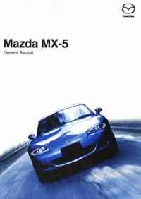 Mazda MX-5 NB 07/2004 Owners Manual - Front Cover