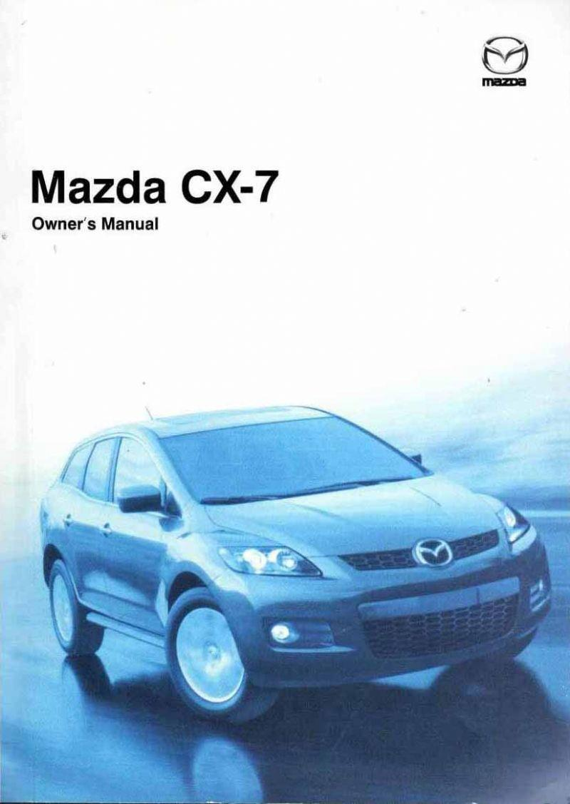 Mazda CX-7 09/2007 Owners Manual