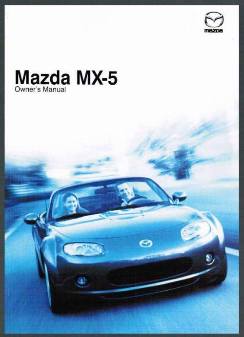 Mazda MX-5 NC 12/2008 Owners Manual - Front Cover